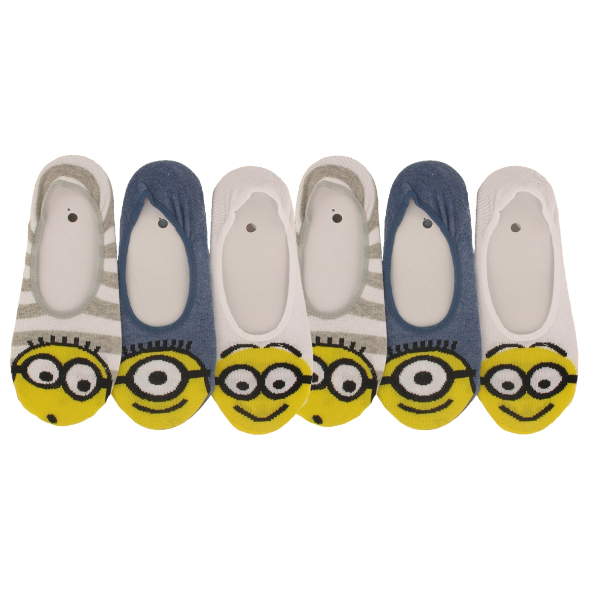 chaussettes invisibles femme les minions lot de 6 ebay. Black Bedroom Furniture Sets. Home Design Ideas
