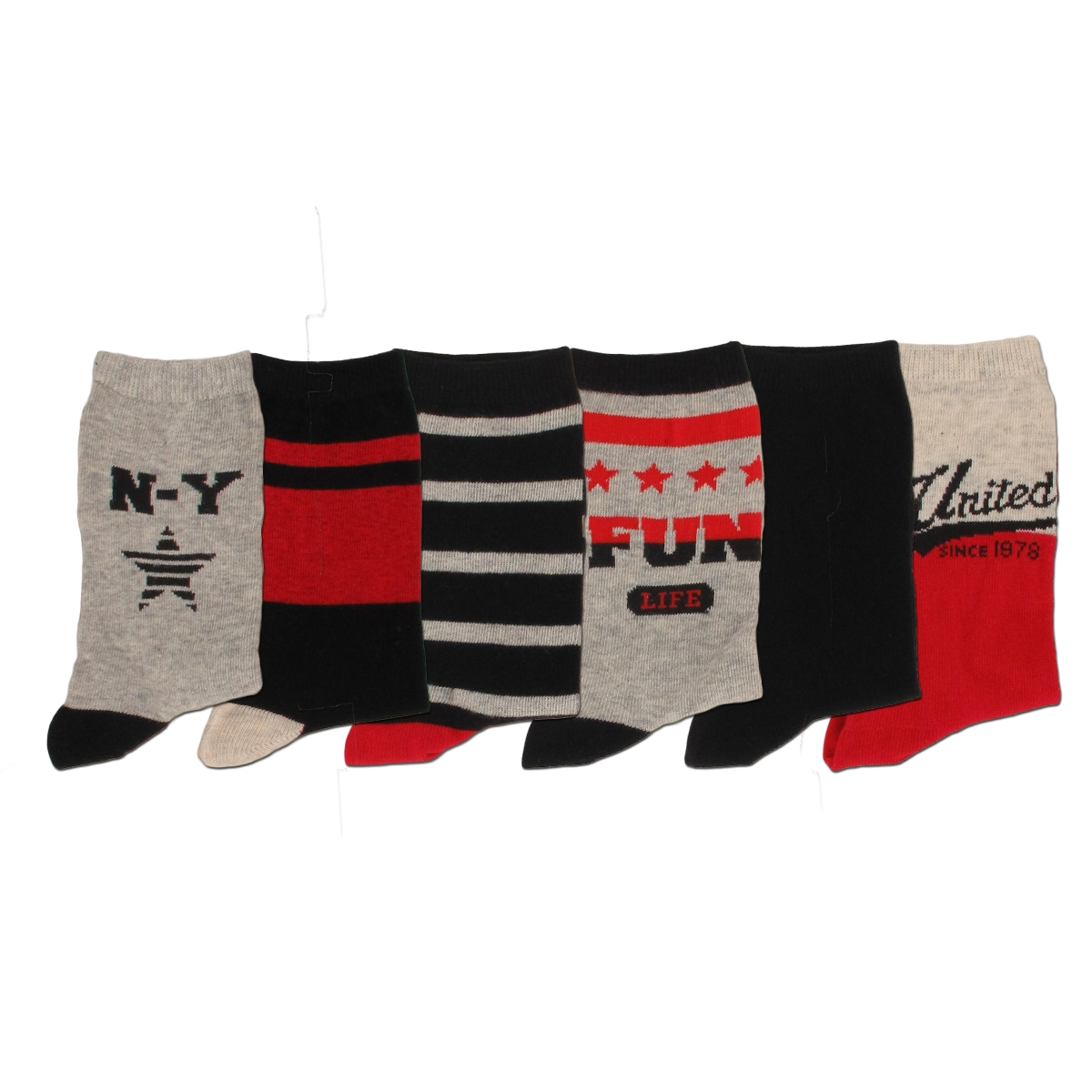 chaussettes enfant motifs lot de 6 ebay. Black Bedroom Furniture Sets. Home Design Ideas