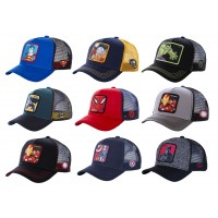 Casquette Trucker CAPSLAB By Freegun MARVEL DC COMICS : Avengers, Batman, Spiderman.. réglable à l'arrière.