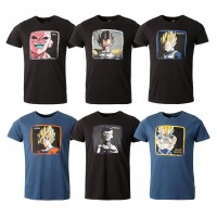 T shirt homme CAPSLAB By Freegun Thème DRAGONBALL Z