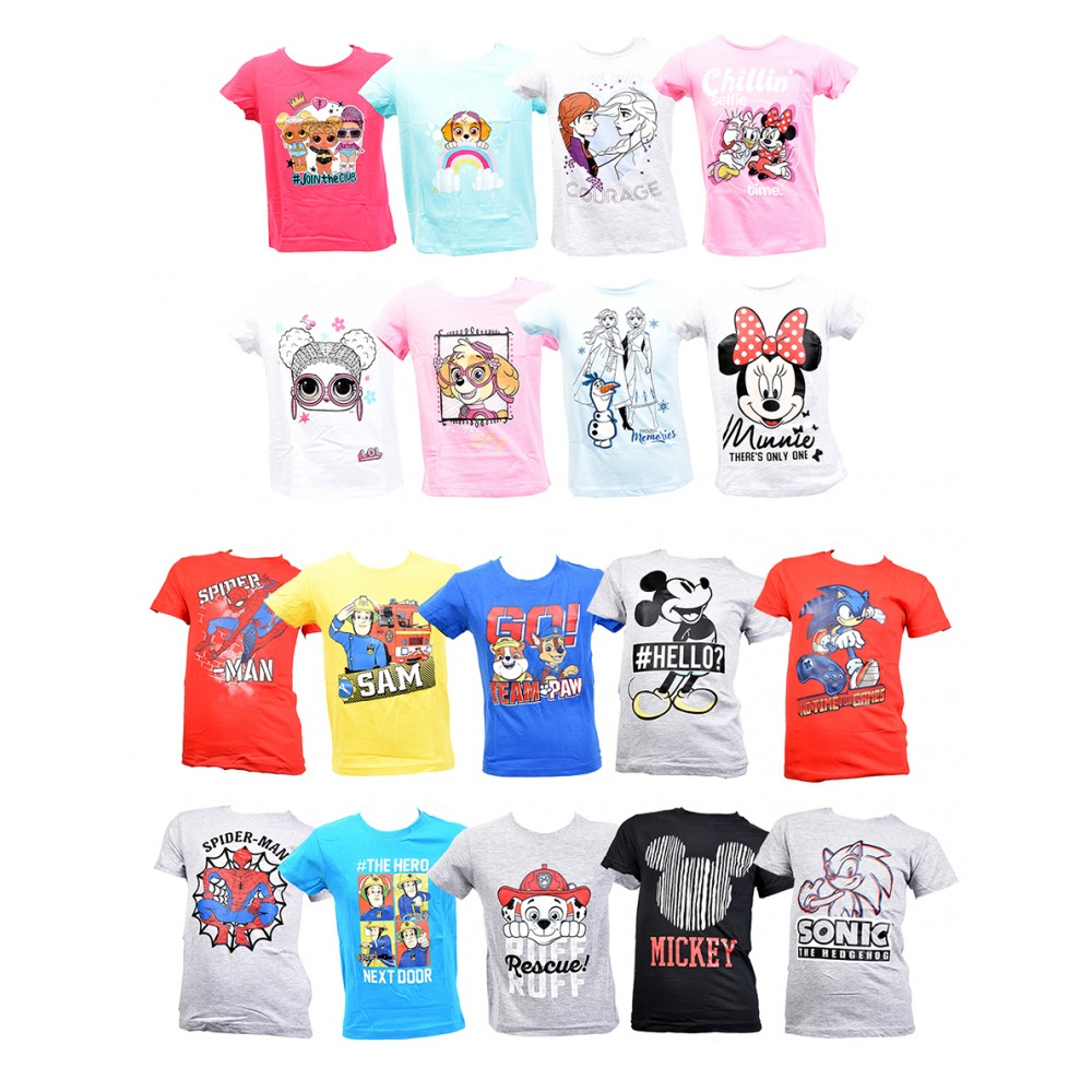 T shirt enfant Licence fantaisies en Coton
