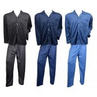 Pyjama Homme Long Eco Boutonné Doublé Polaire