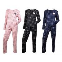 Pyjama Femme Long Fantaisie Bord Dentelle