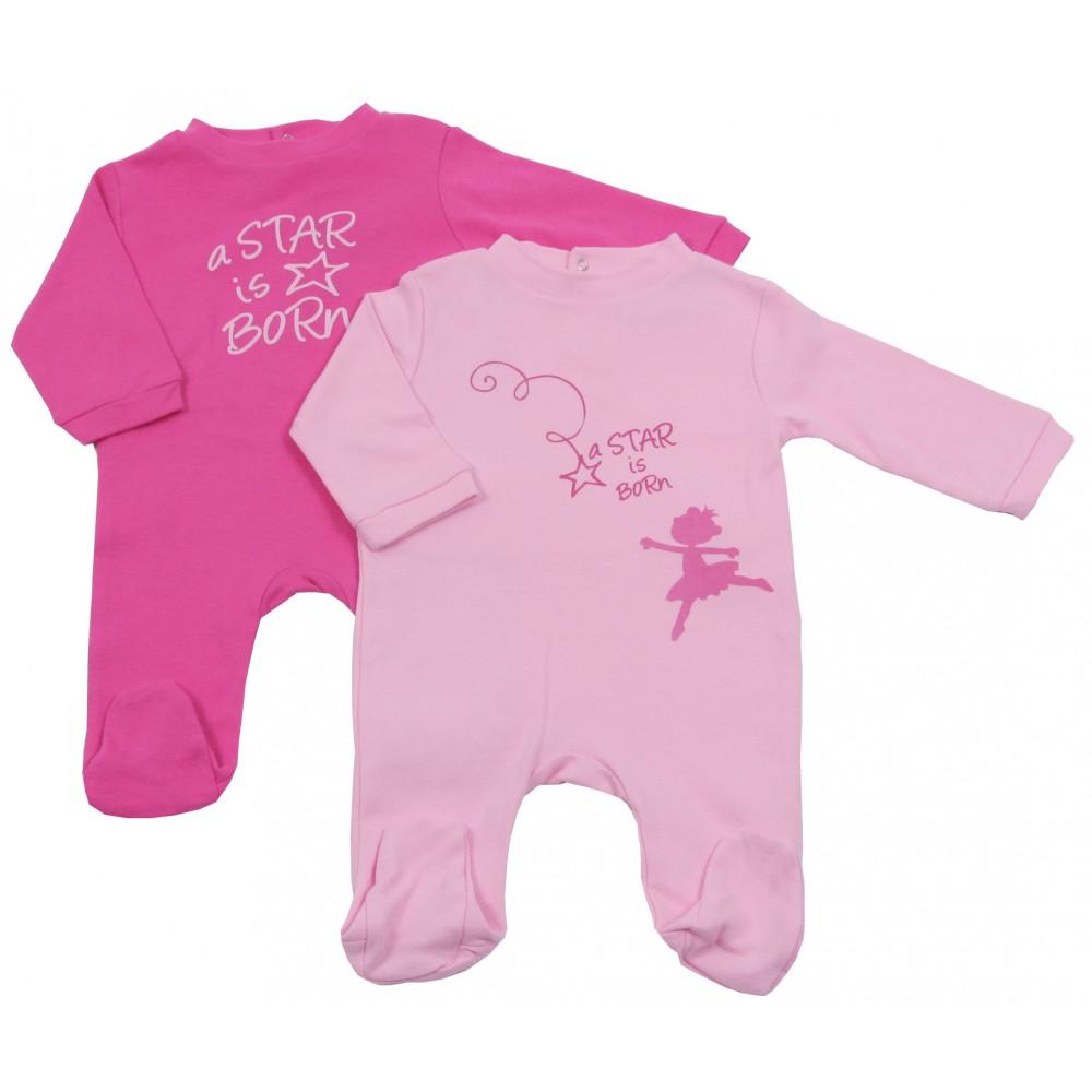 Pyjamas Bébé Lot de 2 Motifs