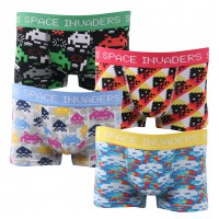 Boxers enfant lot de 4 Space Invaders