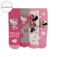 Chaussettes Bébé Lot de 4 Hello Kitty / Disney