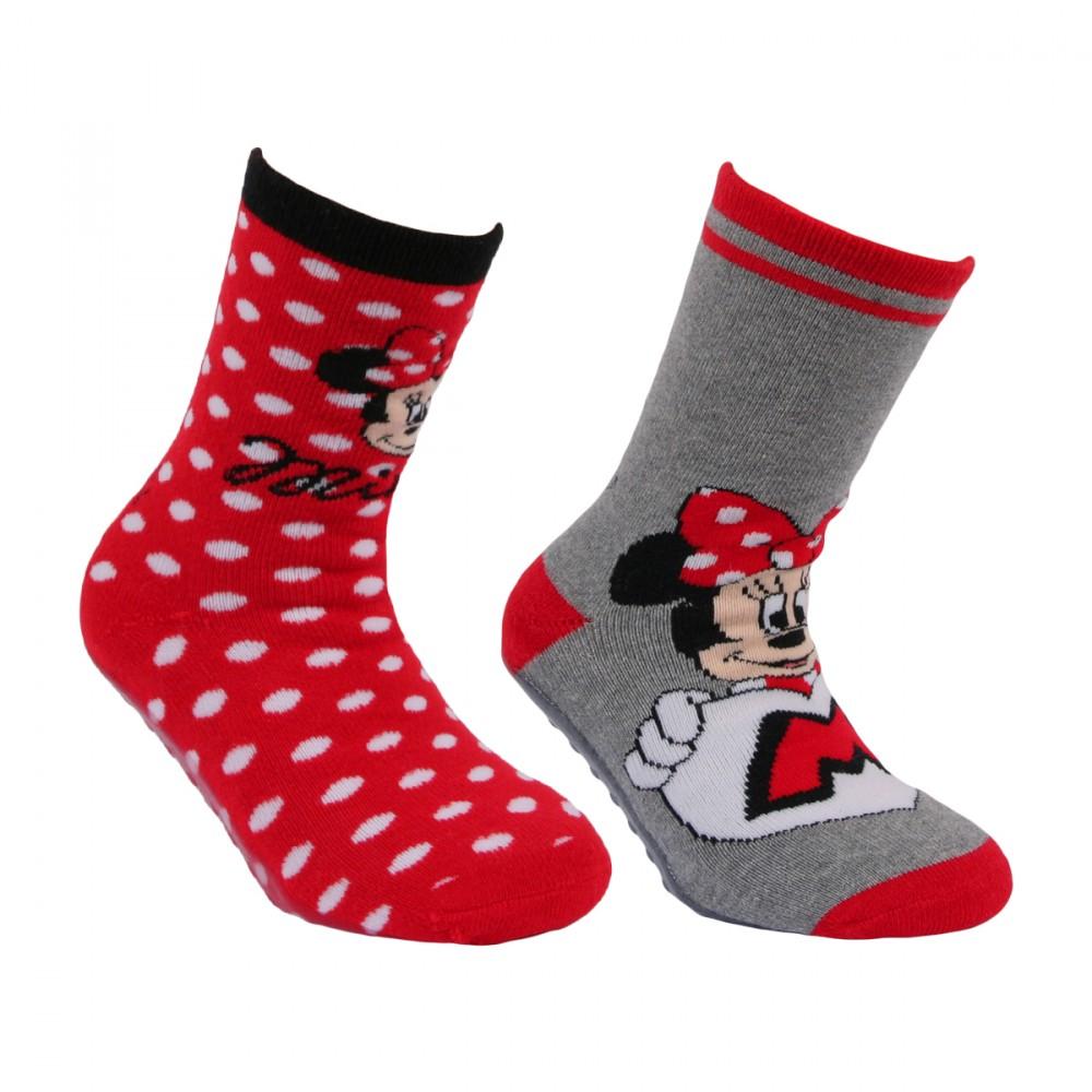 Chaussettes antidérapantes Minnie enfant lot de 2