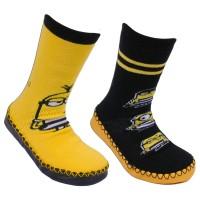 Chaussons chaussettes lot de 2 Les Minions