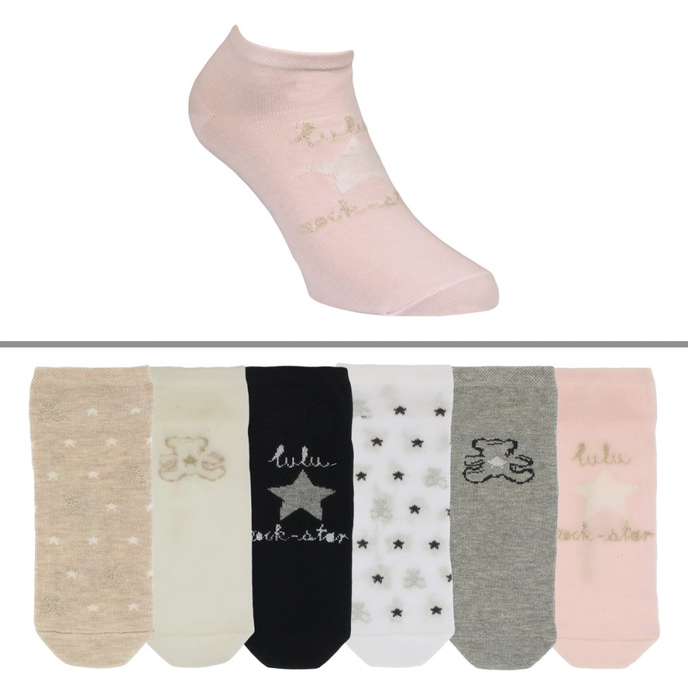 wide varieties cheapest price hot sale online Chaussettes courtes Lulu Castagnette fille lot de 6