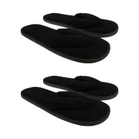 Tongs Chaussons en éponge femme lot de 2