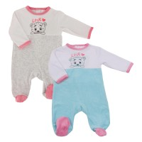 Pyjama Polaire Bébé Lot de 2