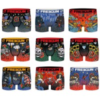 Boxers Freegun homme Act67 Tatoo Hipster en Microfibre -Assortiment modèles photos selon arrivages-