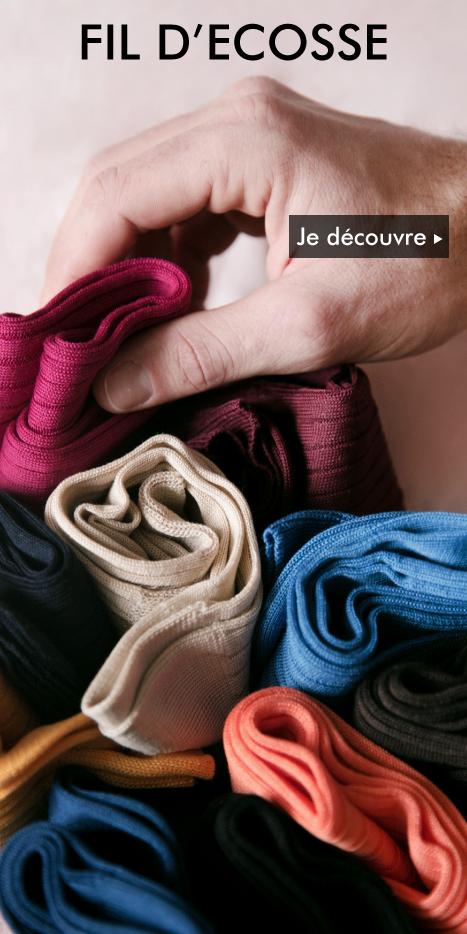 Chaussettes fil d'Ecosse Homme